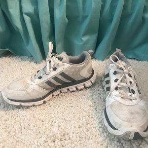 White mens adidas tennis shoes